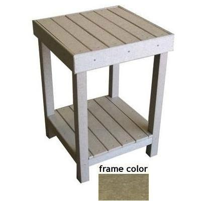 Eagle One Recycled Plastic Collier Bay End Table - Driftwood