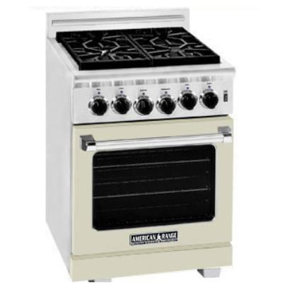 American Range ARR-244 24 Inch Natural Gas Range With 4 Burners - Beige