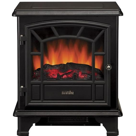 Duraflame DFS-550-0 Electric Stove With Heater And Dimmer Dial - Black