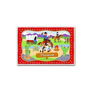Olive Kids Personalized Laminate Placemat - Ride Em