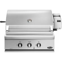 DCS Professional 30-Inch Built-In Propane Gas Grill With Rotisserie - BH1-30R-L