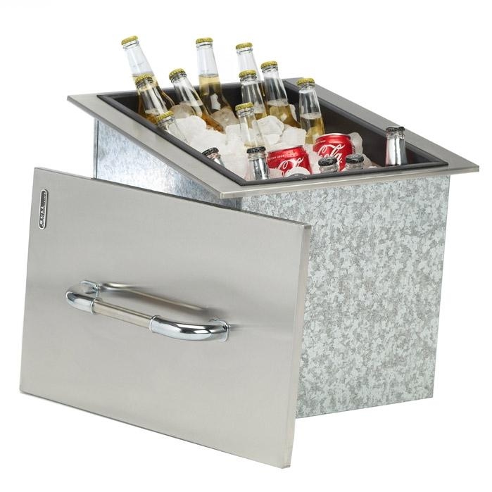 Bull 17-Inch Stainless Steel Built-In Outdoor Ice Chest