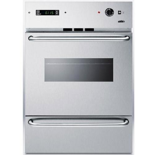 Summit WTM7212KWSSW Windowed Gas Wall Oven With Electronic Ignition - Stainless Steel
