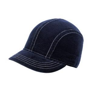 New Era Ladies Corduroy Short Bill Cap - Deep Navy/White
