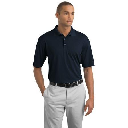Nike Golf Dri-FIT Cross-Over Texture Polo Shirt Large - Midnight Navy