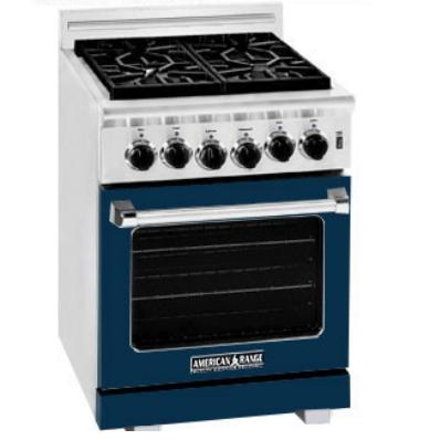 American Range ARR-244 24 Inch Natural Gas Range With 4 Burners - Dark Blue
