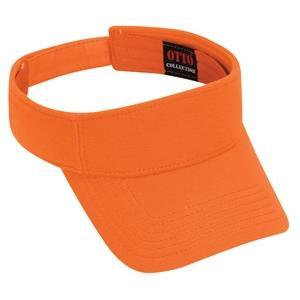 Otto Cap Comfy Cotton Pique Knit Sun Visor - Bright Orange