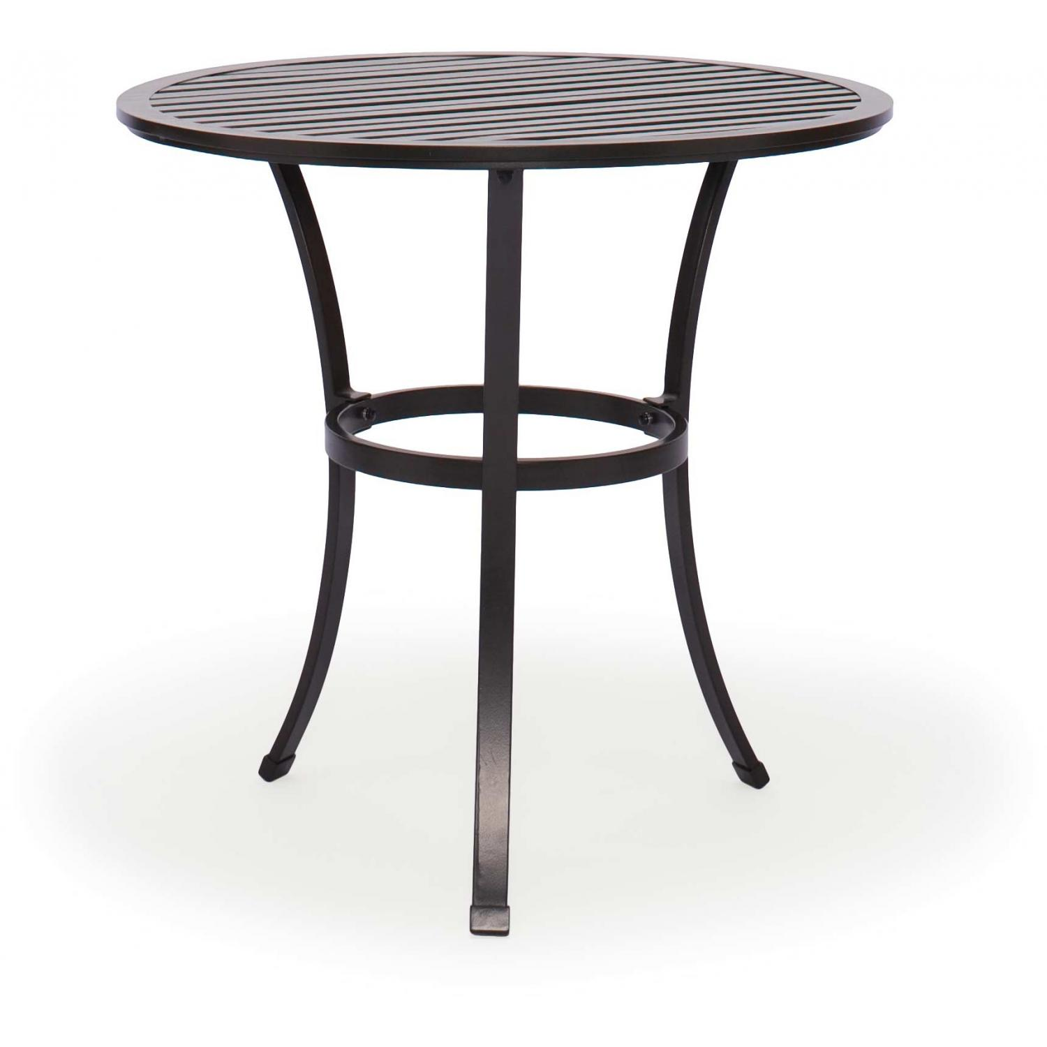 Caluco San Michele Aluminum 32 Inch Round Bar Table