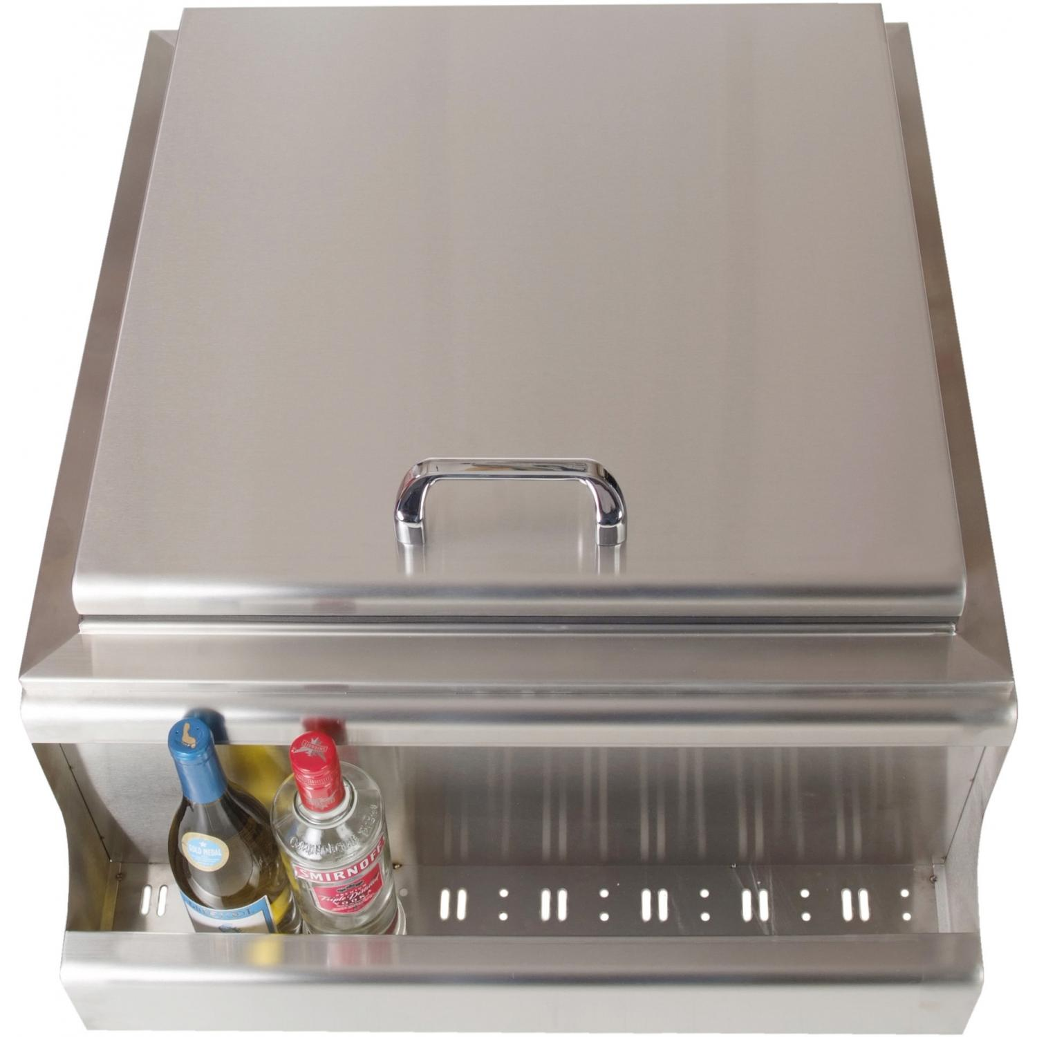 BBQ Guys Slide-In Ice Bin Cooler With Speed Rail