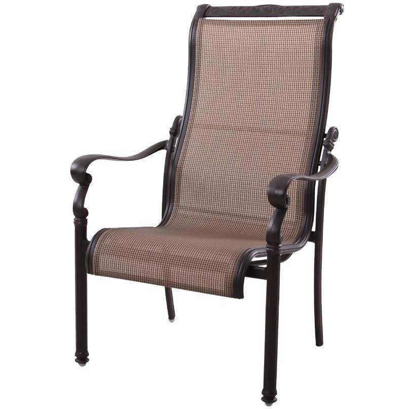 Darlee Monterey Cast Aluminum Sling Outdoor Patio Dining Chair - Antique Bronze