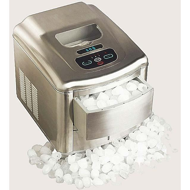 Whynter T-2MA SNO Compact Portable Ice Maker With Water Connection - Stainless Steel Brushed Nickel