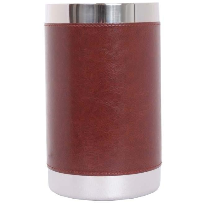 Oggi Faux Leather Double Wall Wine Cooler