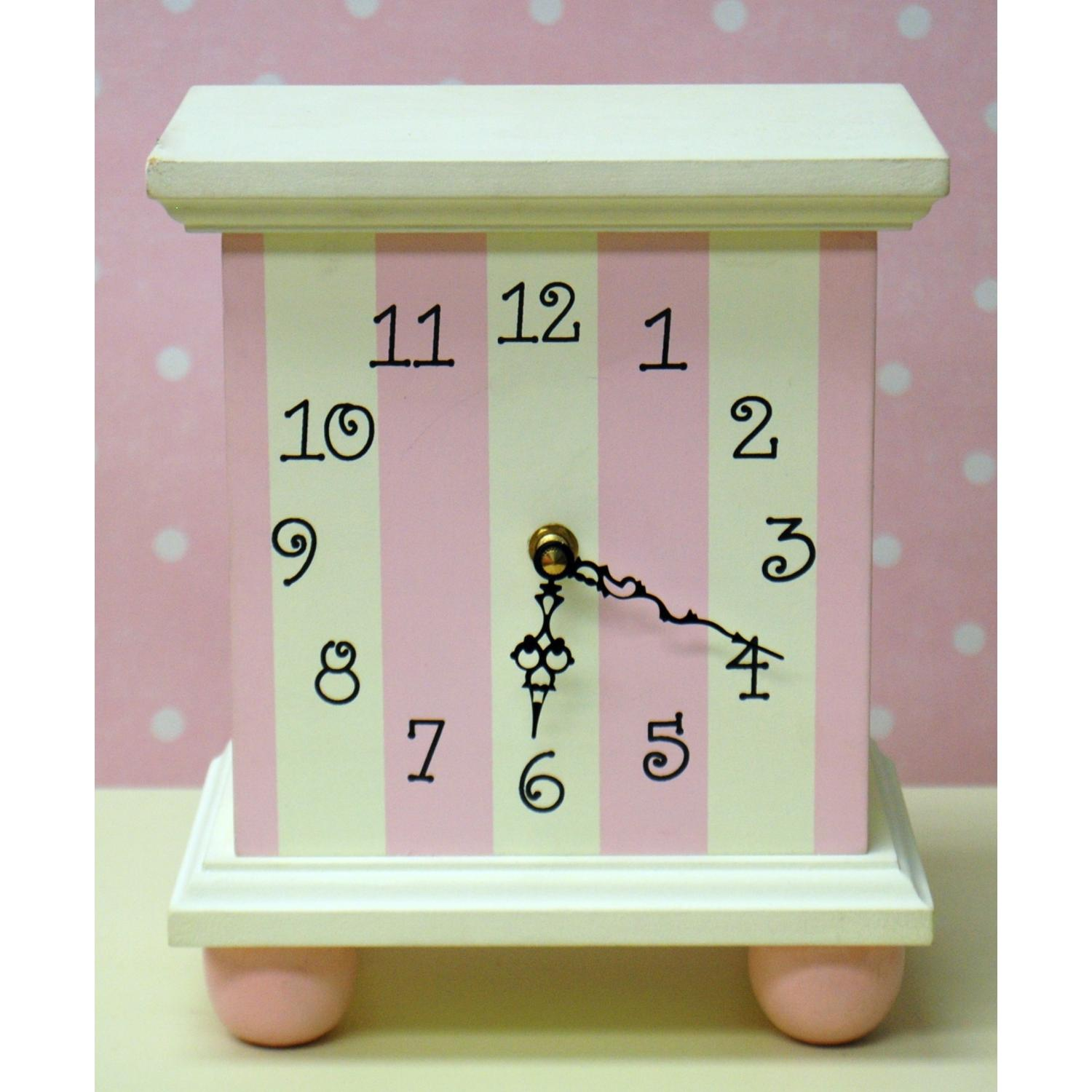 New Arrivals Tabletop Clock - Pink Stripe