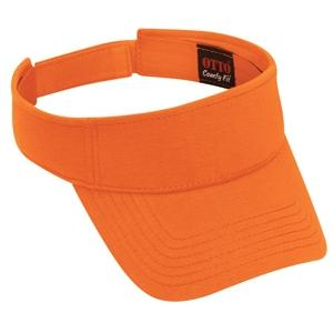 Otto Cap Comfy Cotton Jersey Knit Sun Visor - Bright Orange