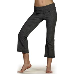 Bella Ladies Cotton/Spandex Capri Pant XL - Deep Heather
