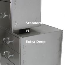 Solaire 21 Inch Extra Deep Double Access Drawer - SOL-2D21D Solaire Standard Depth vs Extra Deep Drawer Comparison