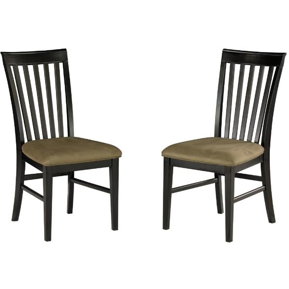 Atlantic Furniture 7001110 Mission Dining Chairs Espresso W/ Cappuccino Cushion (Set Of 2 Chairs)