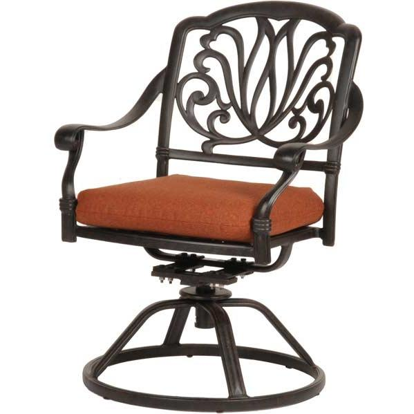 Caluco Florence Aluminum Swivel Arm Chair