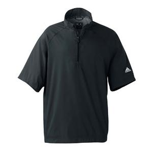 Adidas Golf Mens ClimaProof Short Sleeve Wind Shirt 2XL - Black/Sterling