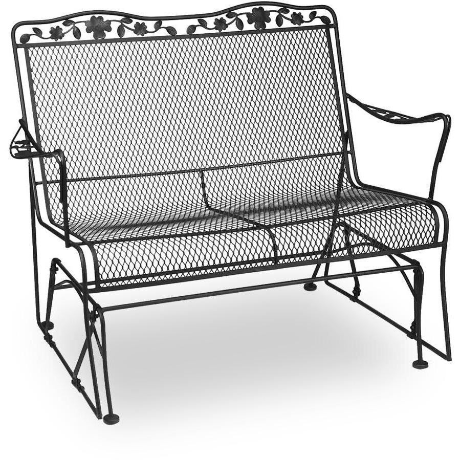 Picture of Meadowcraft Dogwood Wrought Iron Loveseat Patio Glider