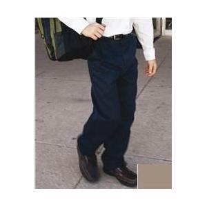 French Toast School Uniform Boys Flat Front Double Knee Twill Pant 10 - Khaki