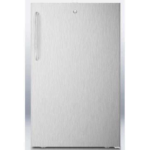 Summit FS407LCSS 2.8 Cu. Ft. Capacity Built-In Or Freestanding Compact Freezer - Stainless Steel Door / Stainless Steel Cabinet