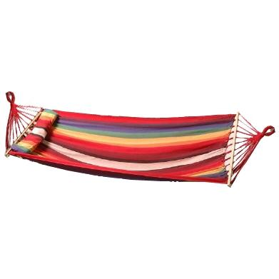 Bliss Hammocks Oversized Hammock With Spreader Bars & Pillow - Tequila Sunrise