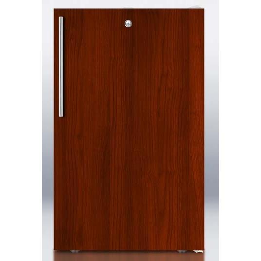 Summit FS407LBIIF 2.8 Cu. Ft. Capacity Built-In Or Freestanding Compact Freezer - Custom Overlay Integrated Door / White Cabinet