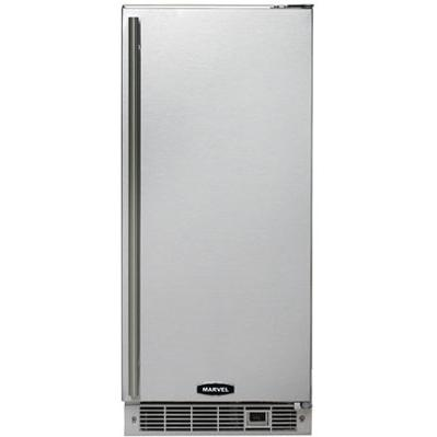 Marvel 3OIMT 15 Inch Built-In Left Hinge Outdoor Ice Maker With Drain Pump - Stainless Steel