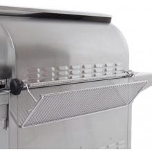 Fire Magic Echelon Diamond E790i 36-Inch Built-In Natural Gas Grill With Magic View Window - E790i-4E1N-W Fire Magic Echelon Diamond E790i Gas Grill - Warming Rack and Rotisserie Spit Rod Storage Area