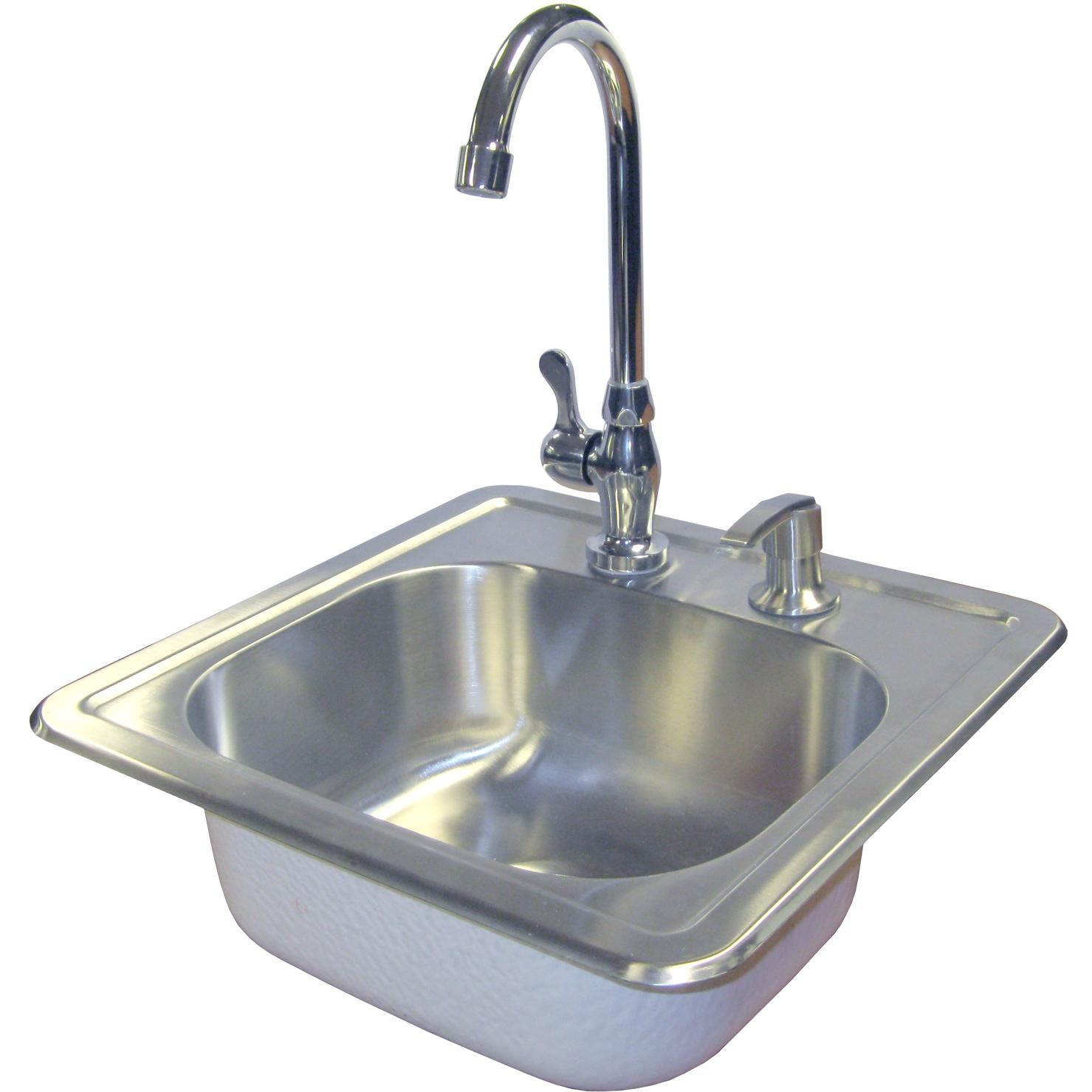 Picture of Cal Flame Stainless Steel Sink With Faucet And Soap Dispenser - BBQ11963