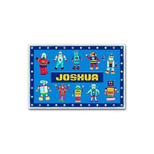 Olive Kids Personalized Laminate Placemat - Robots