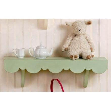 New Arrivals Scalloped Cottage Wall Shelf - Green