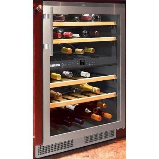 Liebherr WU-4000 40 Bottle Built-In Dual Zone Wine Cooler - Glass Door / Stainless Steel Trim