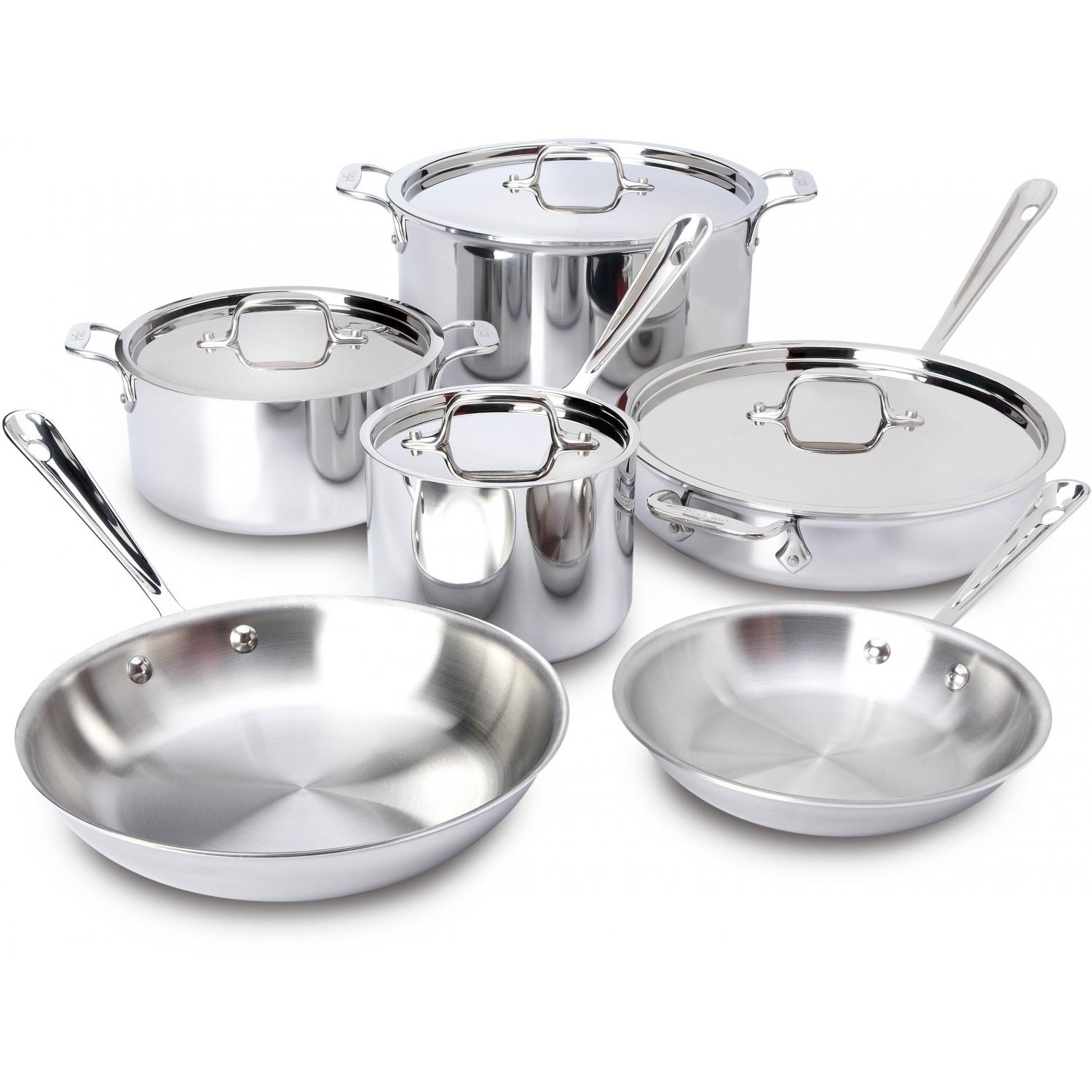 Picture of All-Clad Stainless 10-Piece Cookware Set