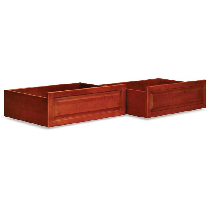 Atlantic Furniture 66006 Raised Panel Bed Drawer Queen Bed/King Bed Light Cherry