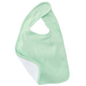 Bella Baby Reversible Baby Bib - Pale Green/White