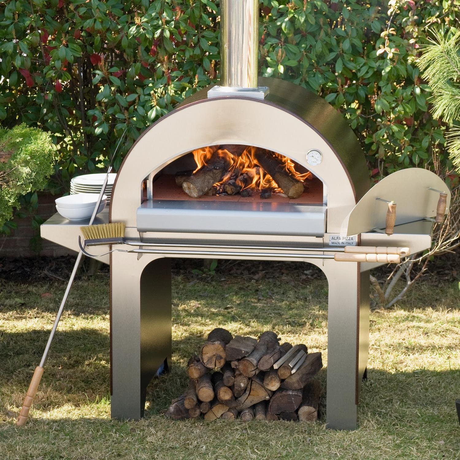 Picture of Alfa Forno 4 Wood Burning Pizza Oven On Cart