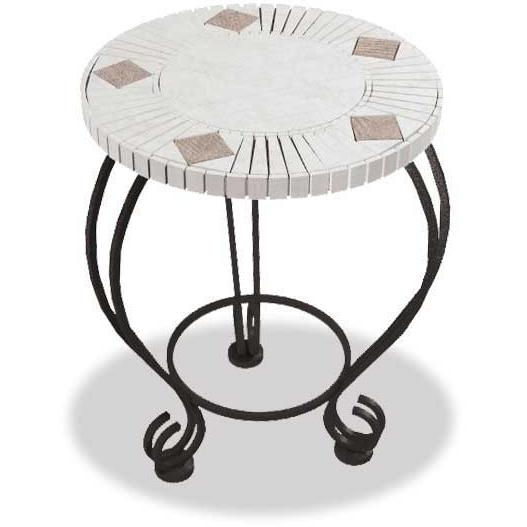 UniFlame Fire Pits 18 Inch Mosaic Tile Side Table