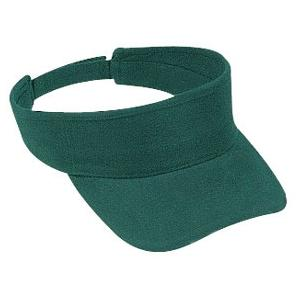 Otto Cap Brushed Bull Denim Sun Visor - Dk.Green
