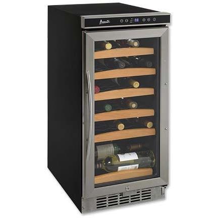 Avanti WC1500DSS 30 Bottle Built-In Wine Cooler - Glass Door / Stainless Steel Trim