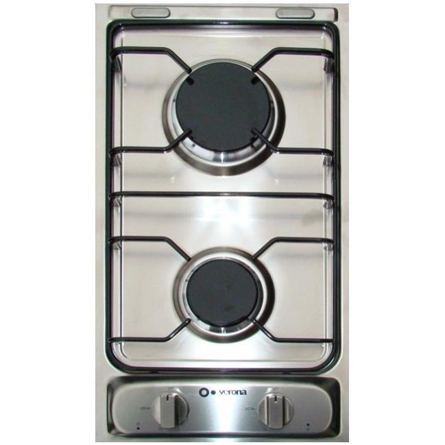 Verona VECTG212FDS 12-Inch Drop-In Gas Cooktop - Stainless Steel