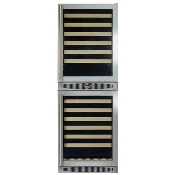 Marvel 66SWCE Chateau 108 Bottle Built-In Left Hinge Wine Cooler - Glass Door / Stainless Steel Trim
