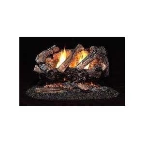 Firegear 26-Inch Big Horn Vent Free Natural Gas Log Set With ANSI Certified Revolution Burner - On / Off Remote