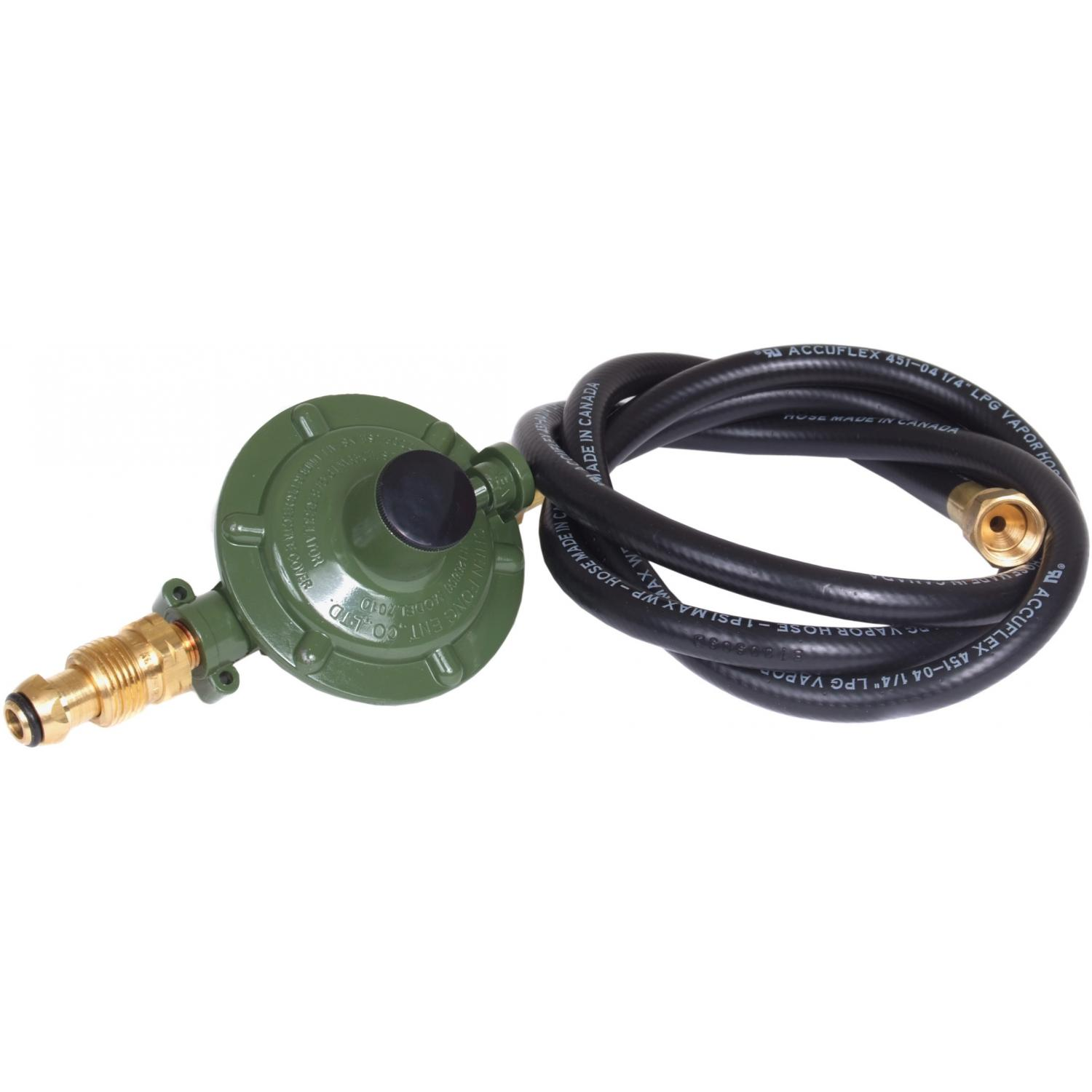 Five Foot Propane Hose And Low Pressure Regulator