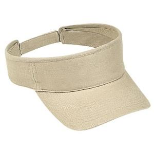 Otto Cap Brushed Bull Denim Sun Visor - Khaki