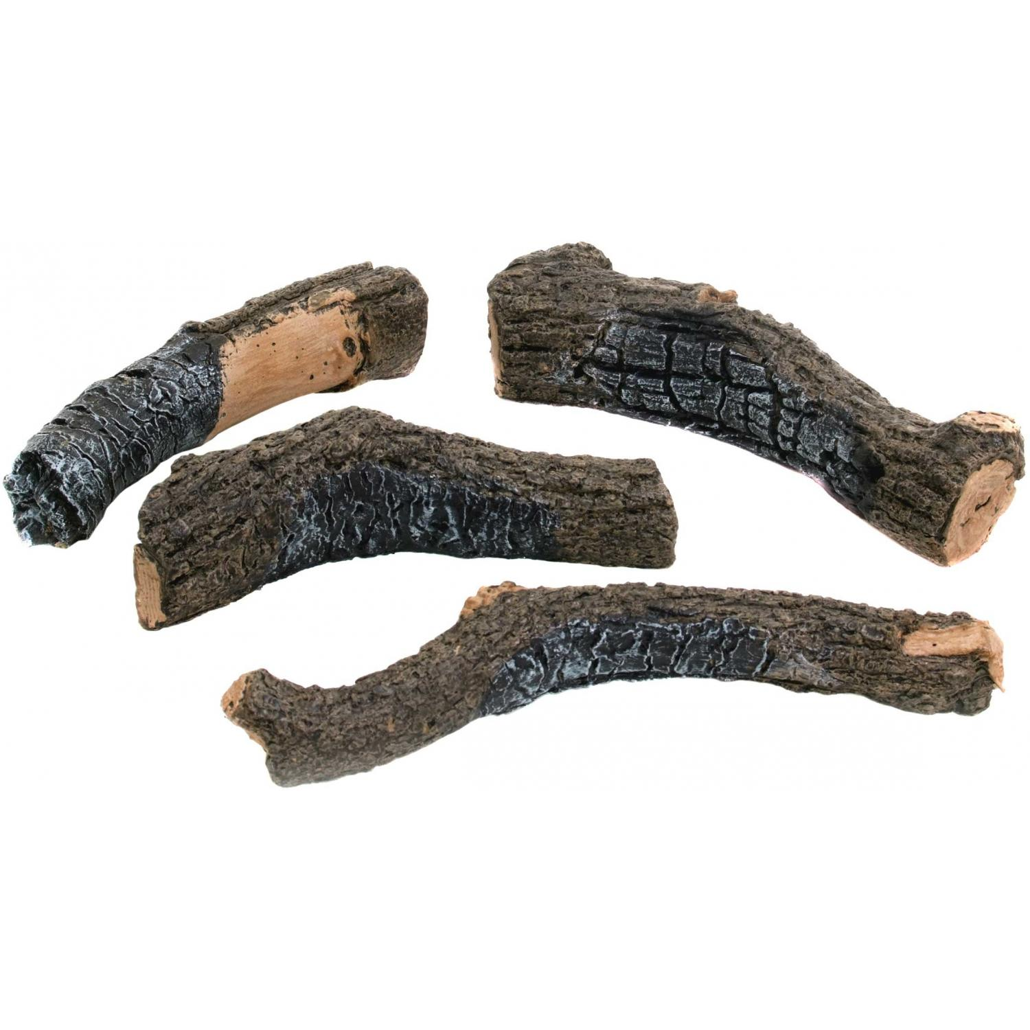 Peterson Gas Logs Decorative Charred Branches Set Of 4