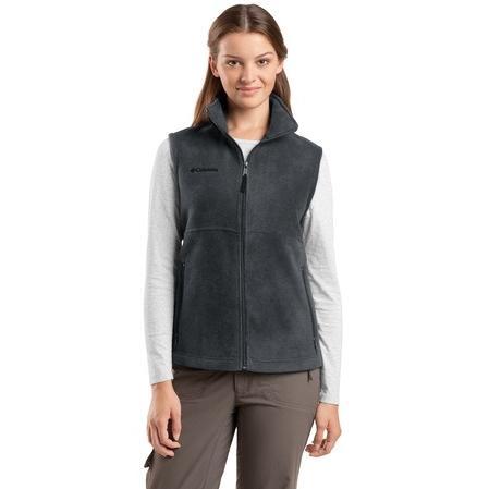 Columbia Ladies Fern Creek Fleece Vest Medium - Charcoal Heather