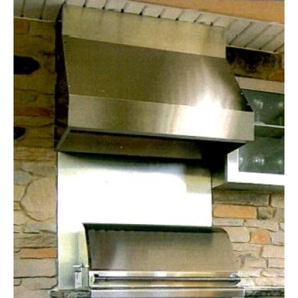 Trade-Wind 7200 Series 36-Inch Barbecue Grill Hood - 7236-12