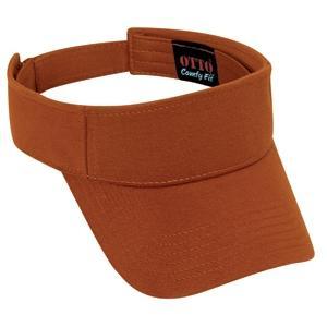 Otto Cap Comfy Cotton Jersey Knit Sun Visor - Texas Orange